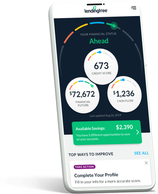 Creditscore on mobile phone